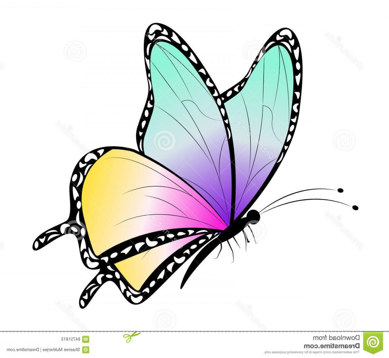 Stock Illustration Cartoon Butterfly Clip Art Vector.