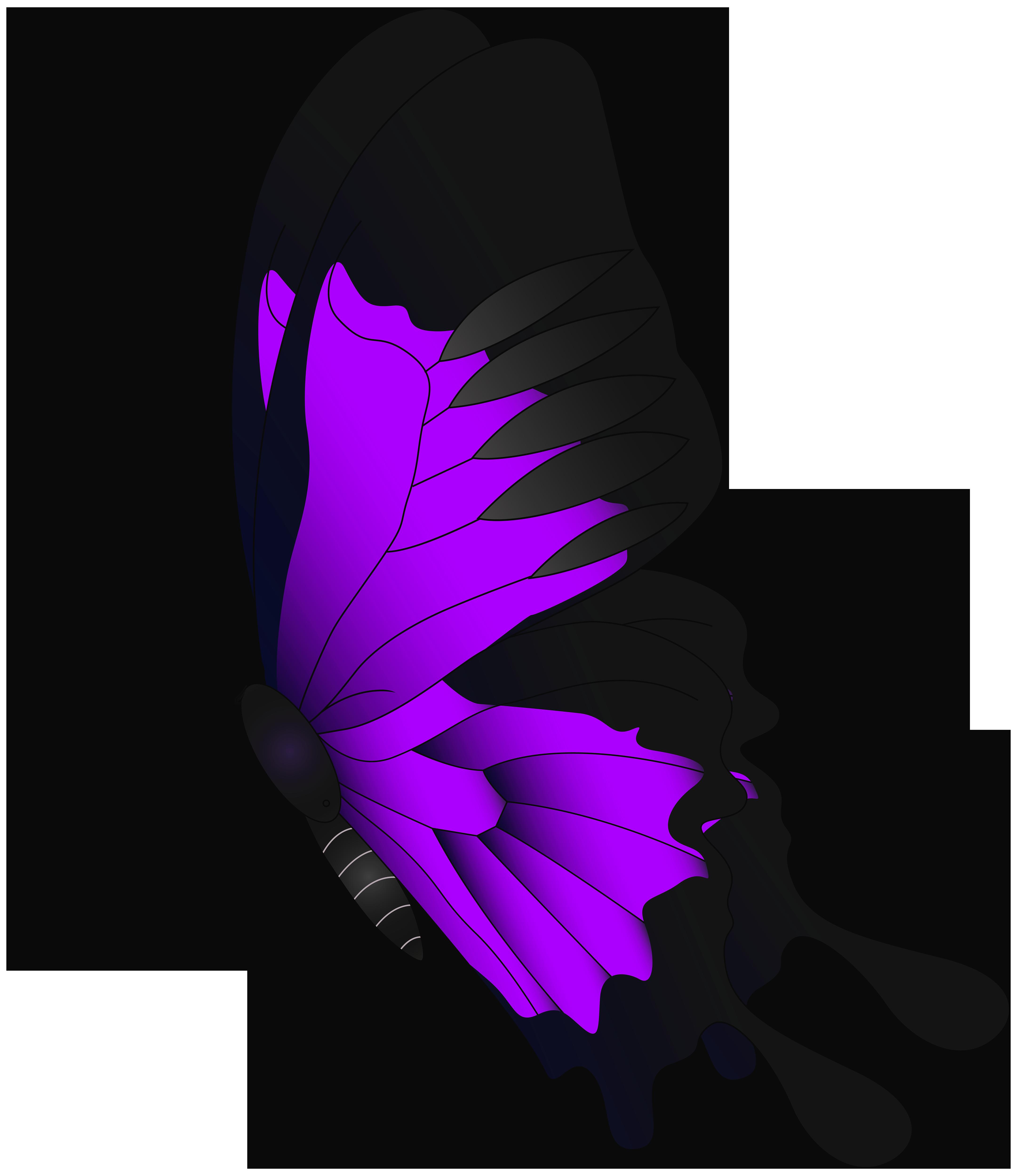 Purple Flying Butterfly PNG Clip Art.