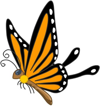 Flying butterfly clipart 2 » Clipart Station.