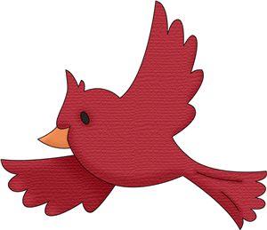 Flying Cardinal Clipart.