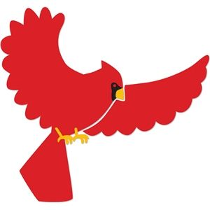 Flying cardinal.