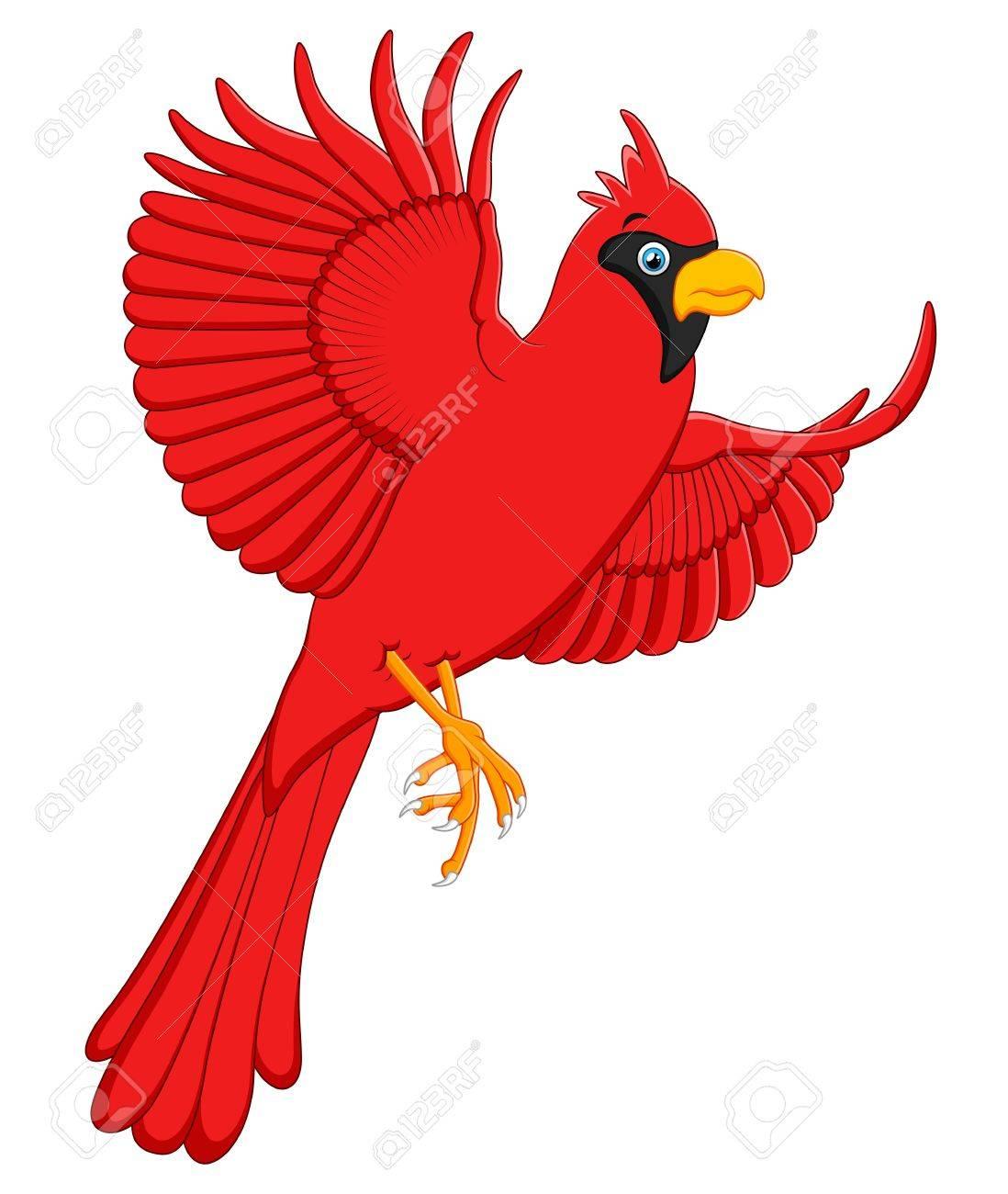 flying cardinal cartoon.