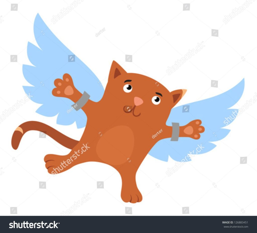 Clipart Flying Cat.
