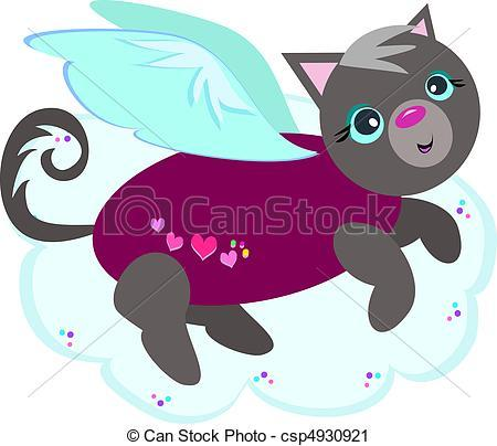 Flying cat clipart » Clipart Portal.