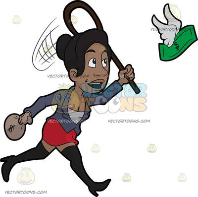 financial condition Cartoon Clipart.