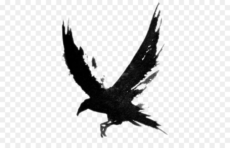 Flying Crow PNG Black And White Transparent Flying Crow Black And.