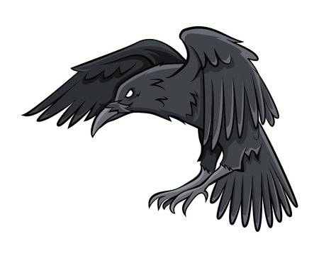 flying crow clipart #4