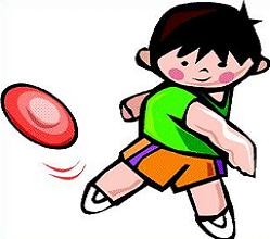 Flying Frisbee Clipart.