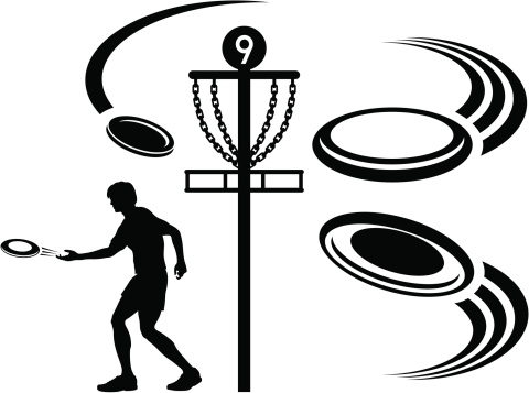 Flying disc clipart #15