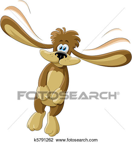Flying dog Clipart.