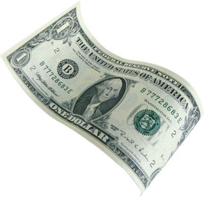 Download Free png Flying Dollars PNG Clipart.