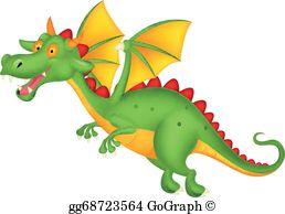 Flying Dragon Clip Art.