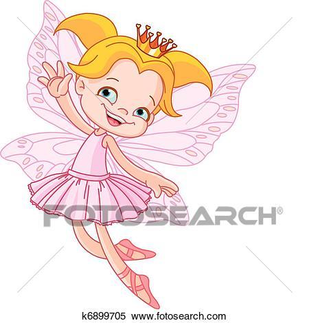 Little flying fairy Clipart.