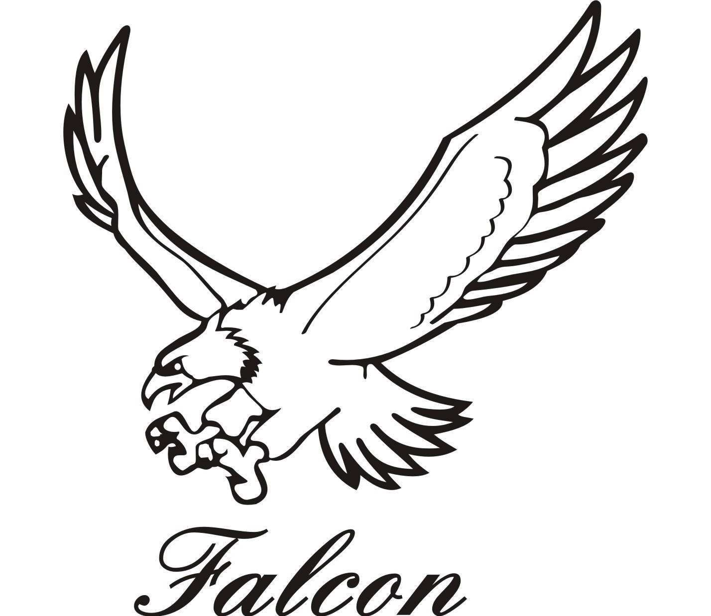 Images For > Falcon Flying Drawing in 2019.