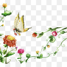 Flying Flowers PNG and Flying Flowers Transparent Clipart.