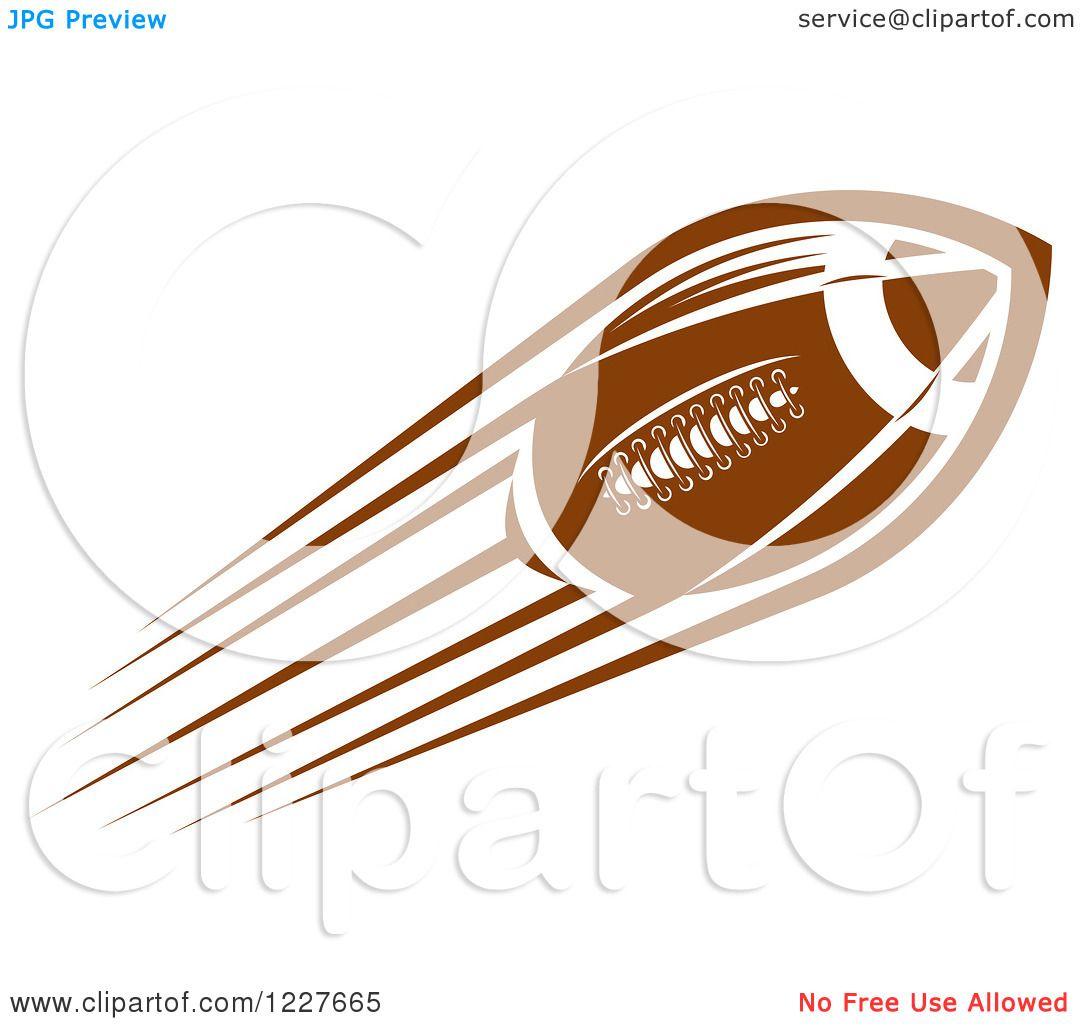 Clipart of a Flying American Football.