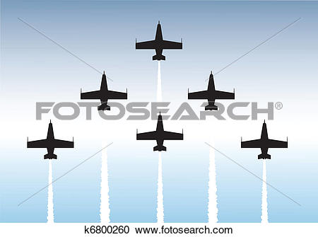 Clipart of Formation flying k6800260.