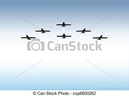 Vector Illustration of Formation flying.