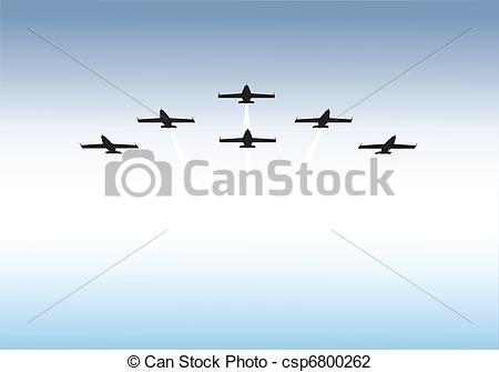 Vector Illustration of Formation flying.