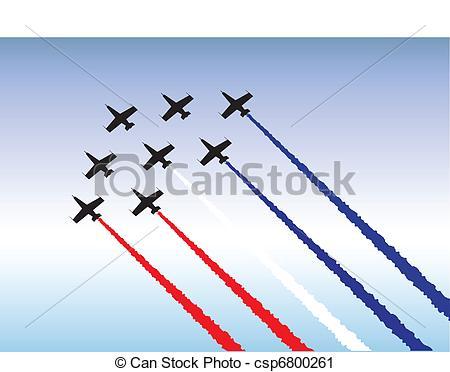 Vector Clip Art of Formation flying.