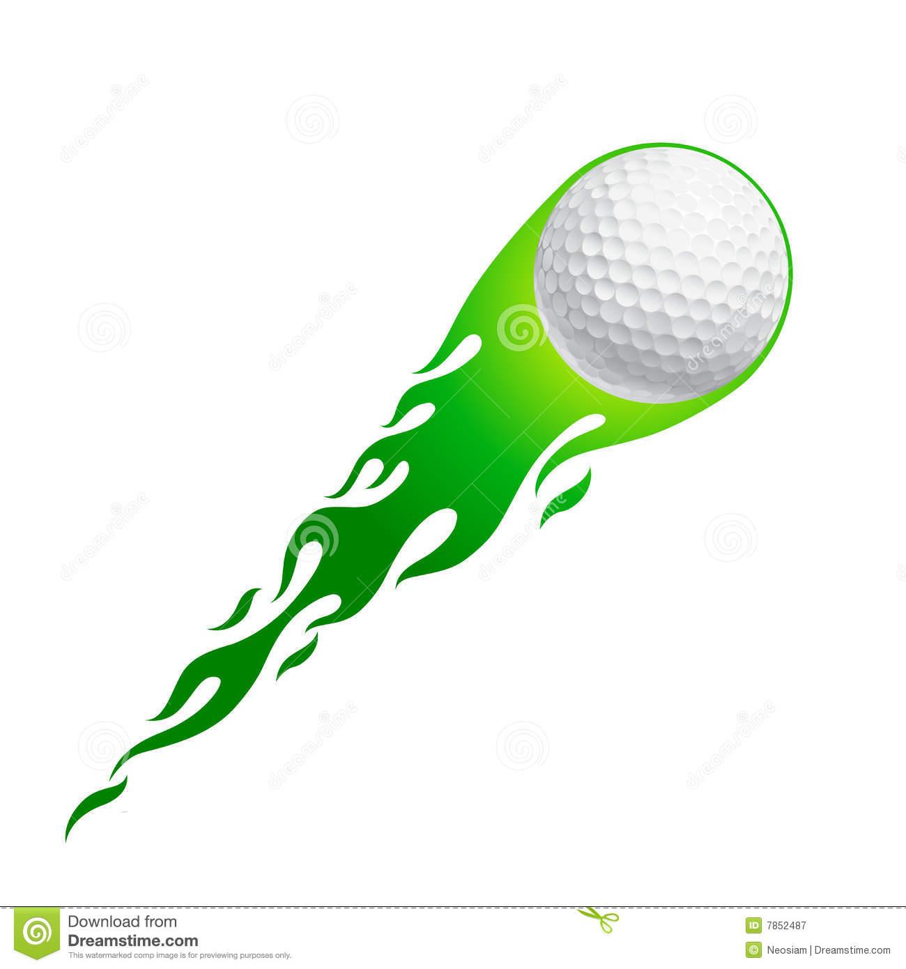 Flying Golf Ball Clip Art.