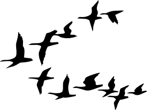 Flying Geese clip art.
