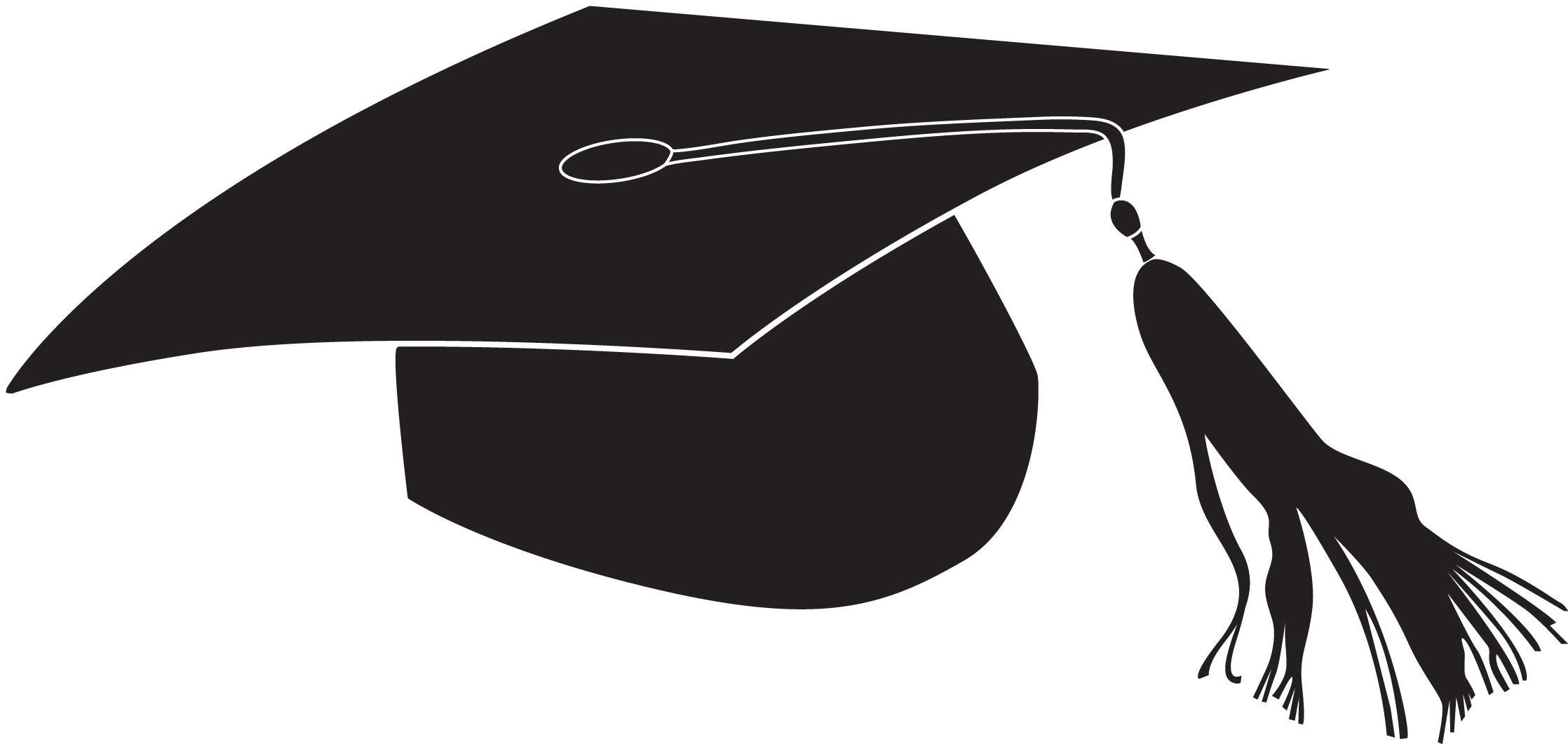 Top graduation hat flying caps clip art cap line images.