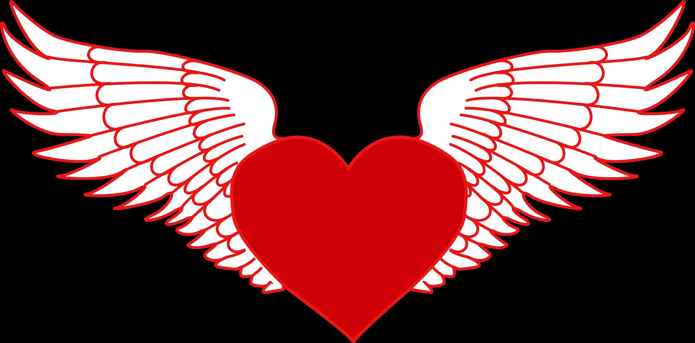 Flying Heart Clip Art.