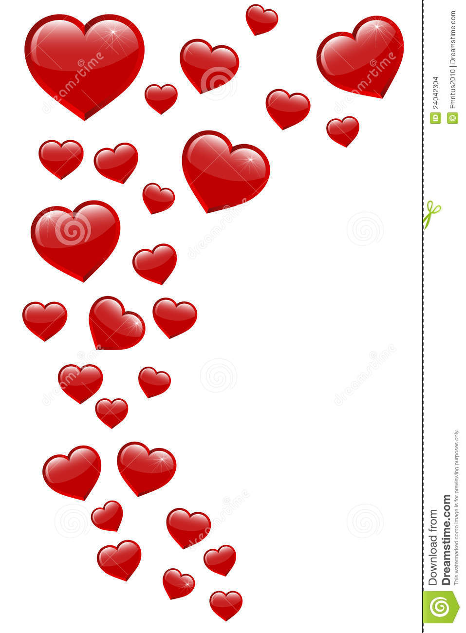 Flying Hearts Stock Images.