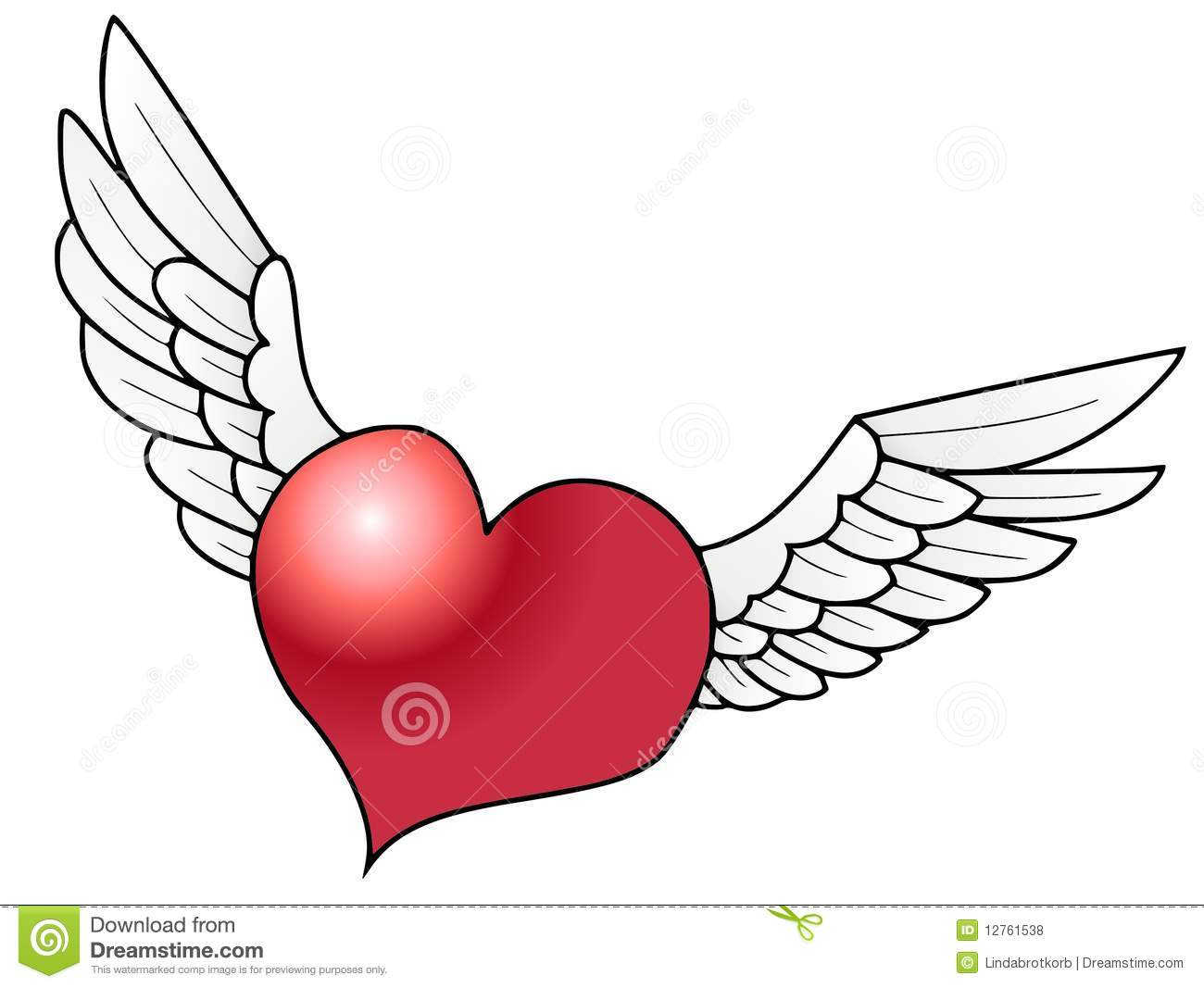 Flying Heart Royalty Free Stock Photos.
