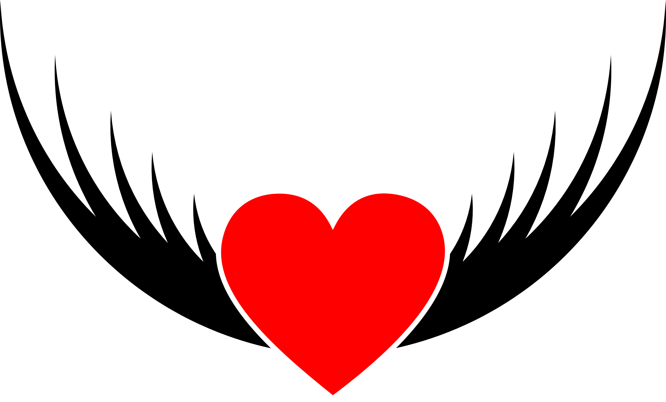 Flying Heart Clipart