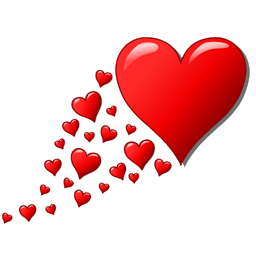 Flying Hearts Facebook Chat Code.