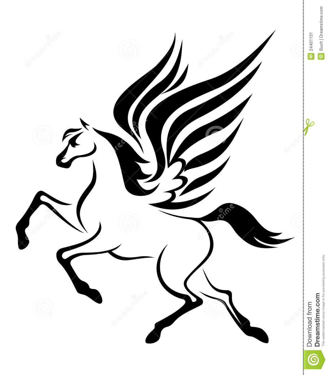 Pegasus Horse Royalty Free Stock Photos.