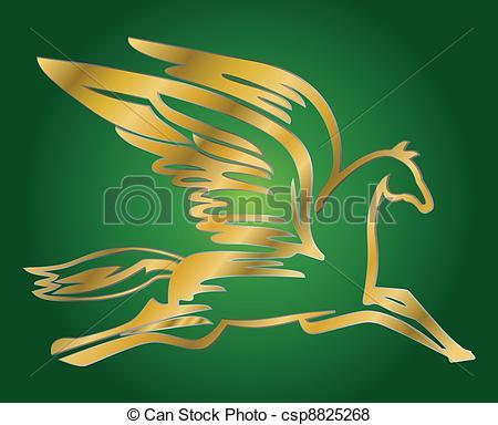 Stock Illustration of pegasus, flying horse csp3942010.