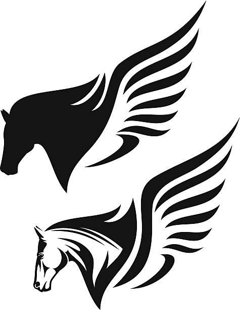 Flying Horse Clip Art, Vector Images & Illustrations.