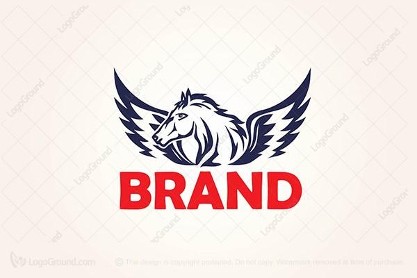 Exclusive Logo 158109, Flying Horse Logo.