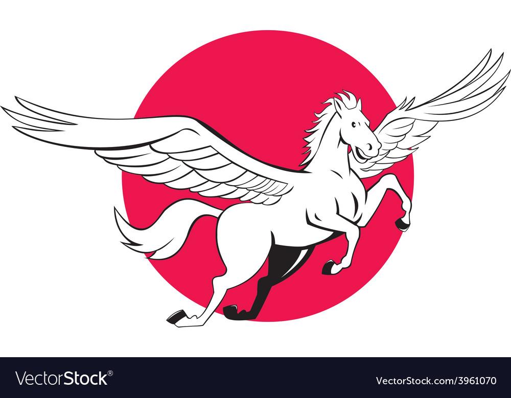 Pegasus Flying Horse Cartoon.