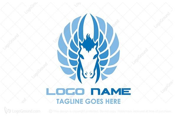 Exclusive Logo 141554, Flying Horse Logo.