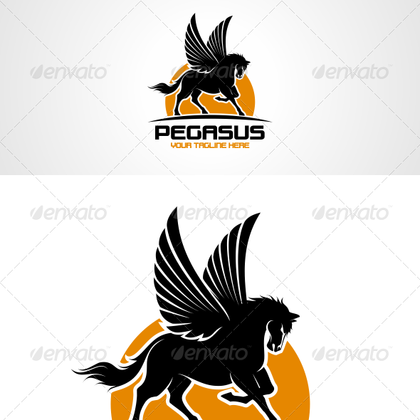 Flying Horse Logo Graphics, Designs & Templates.
