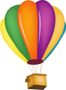 Hot Air Balloon Clip Art Outline.