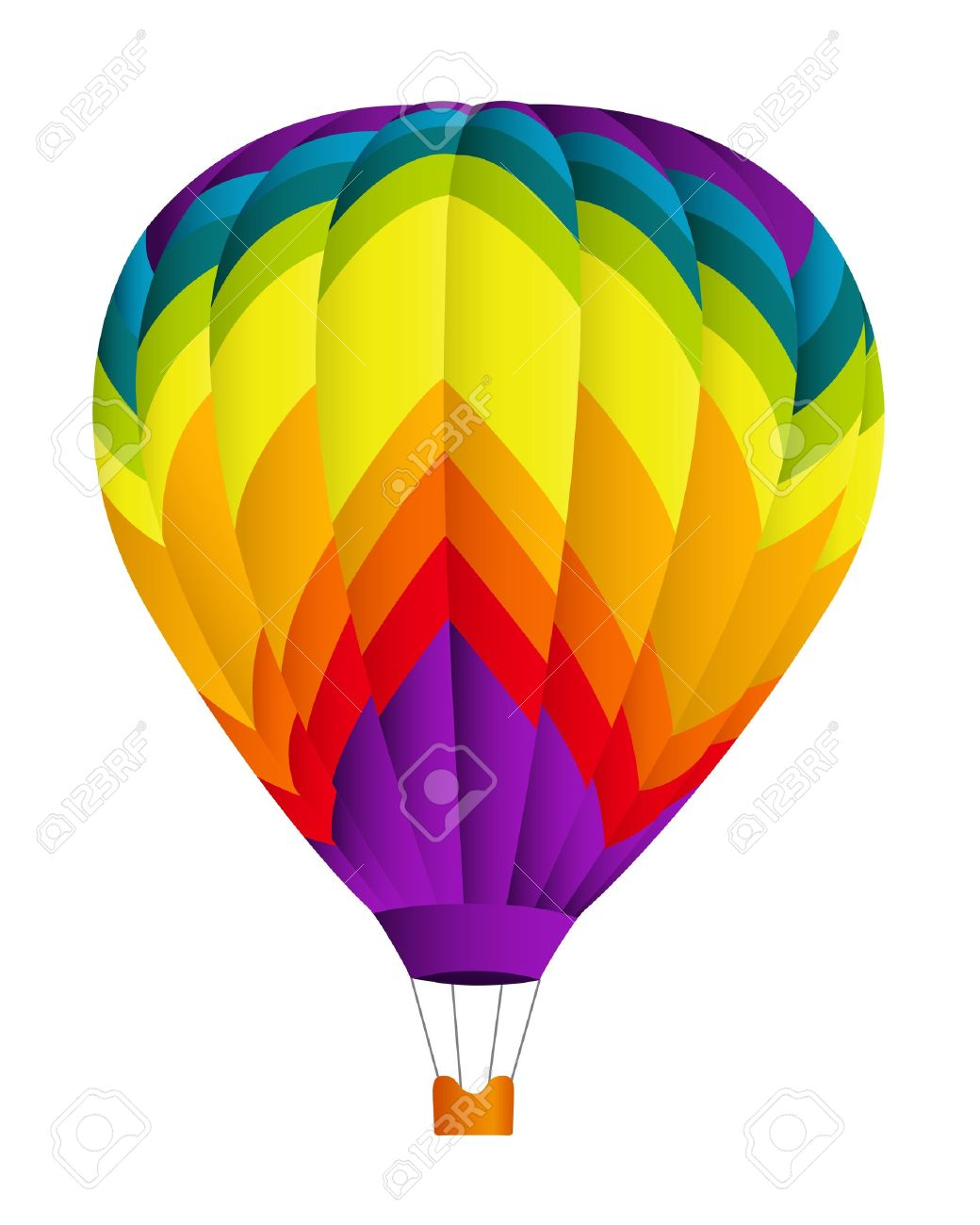 Hot Air Balloon Vector Illustration On White Background Royalty.