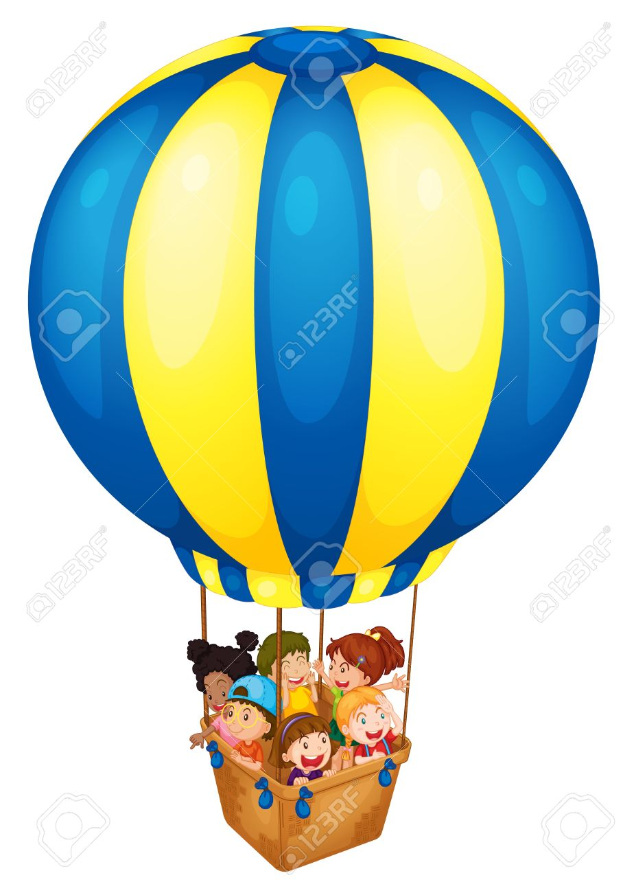 Illustration Of A Hot Air Balloon Royalty Free Cliparts, Vectors.