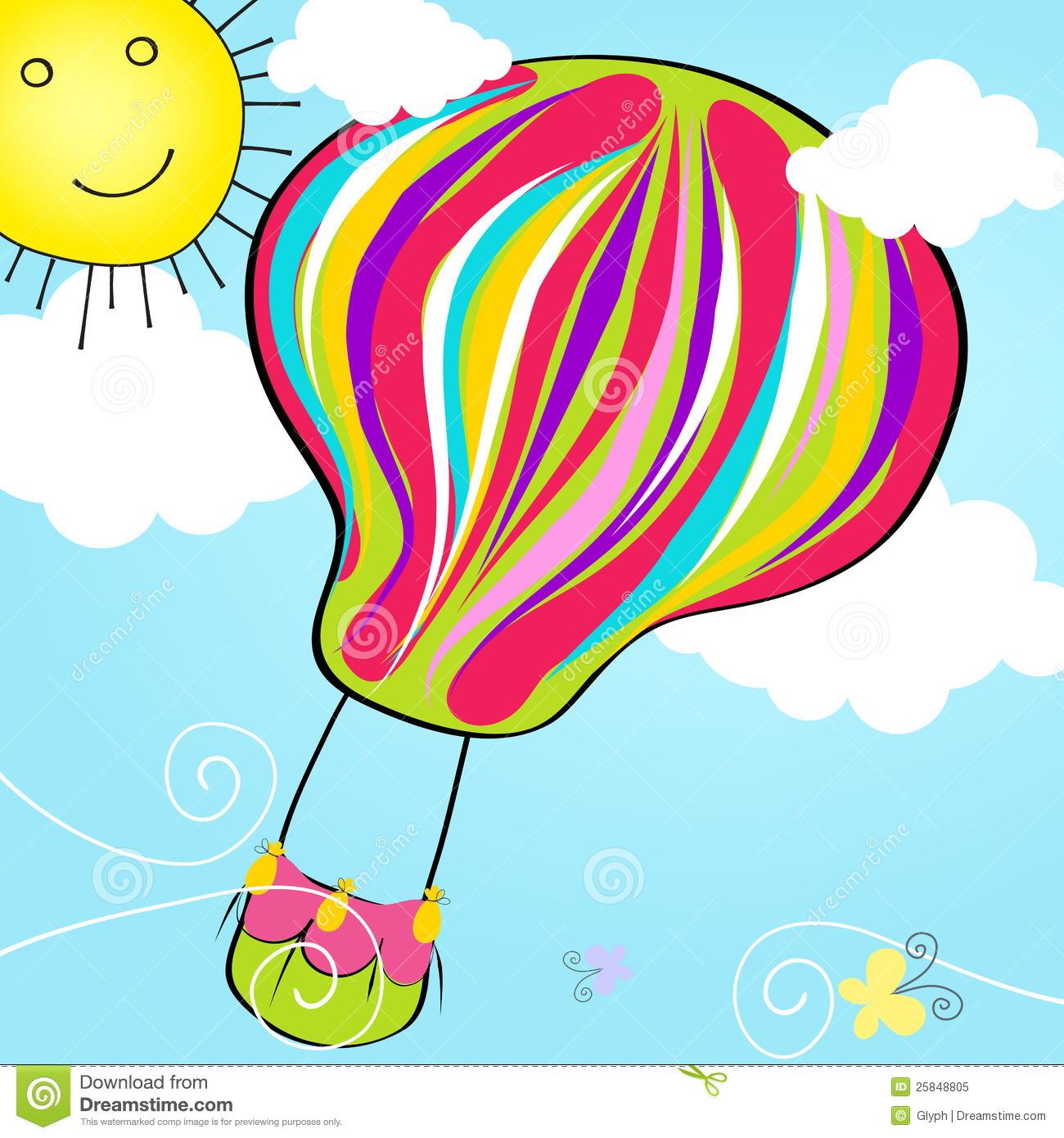 Cute Hot Air Balloon Clipart Cute Hot Air Balloon Flying In.