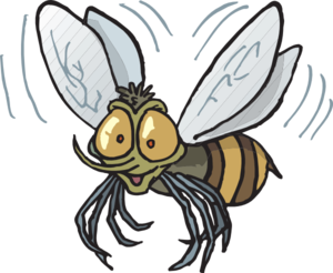 Bee Flying Clip Art at Clker.com.