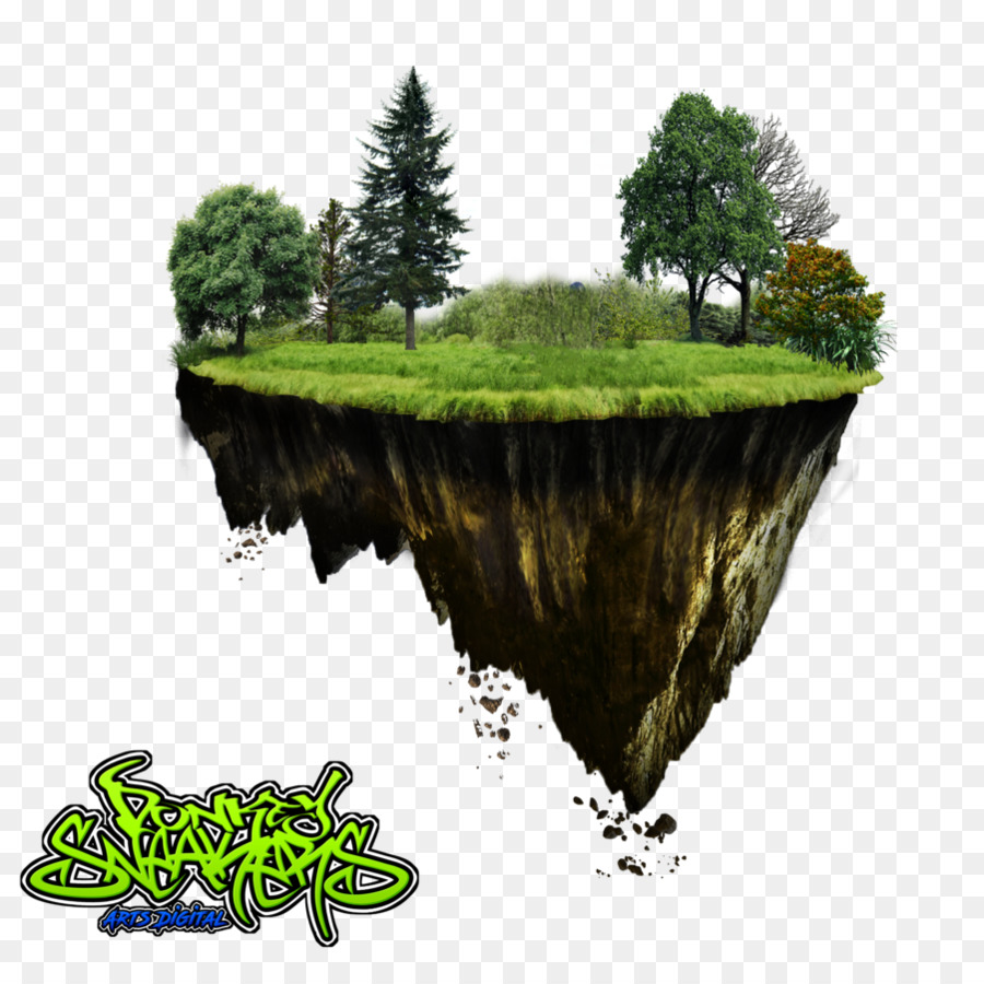 Floating Island clipart.