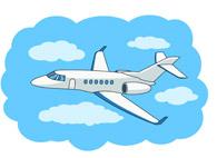 Flying jet clipart #15