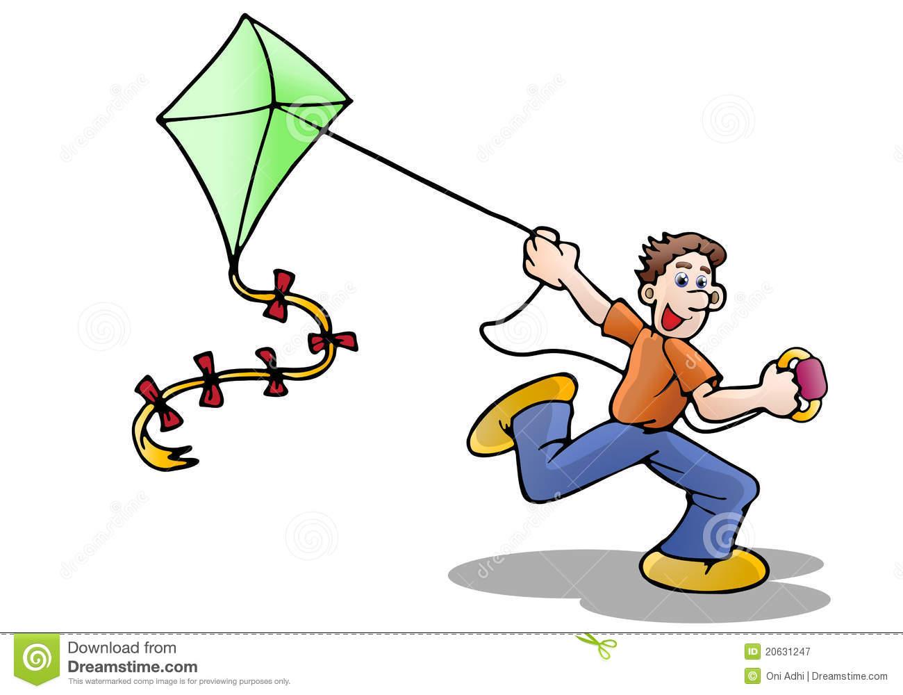 Kite Flying Clipart.