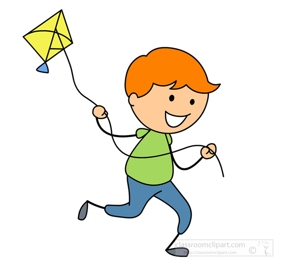 clipart girl flying a kite clipground