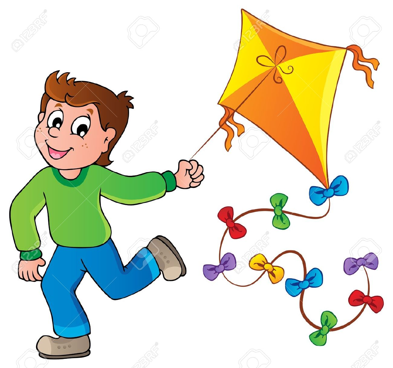 Flying kite clipart - Clipground