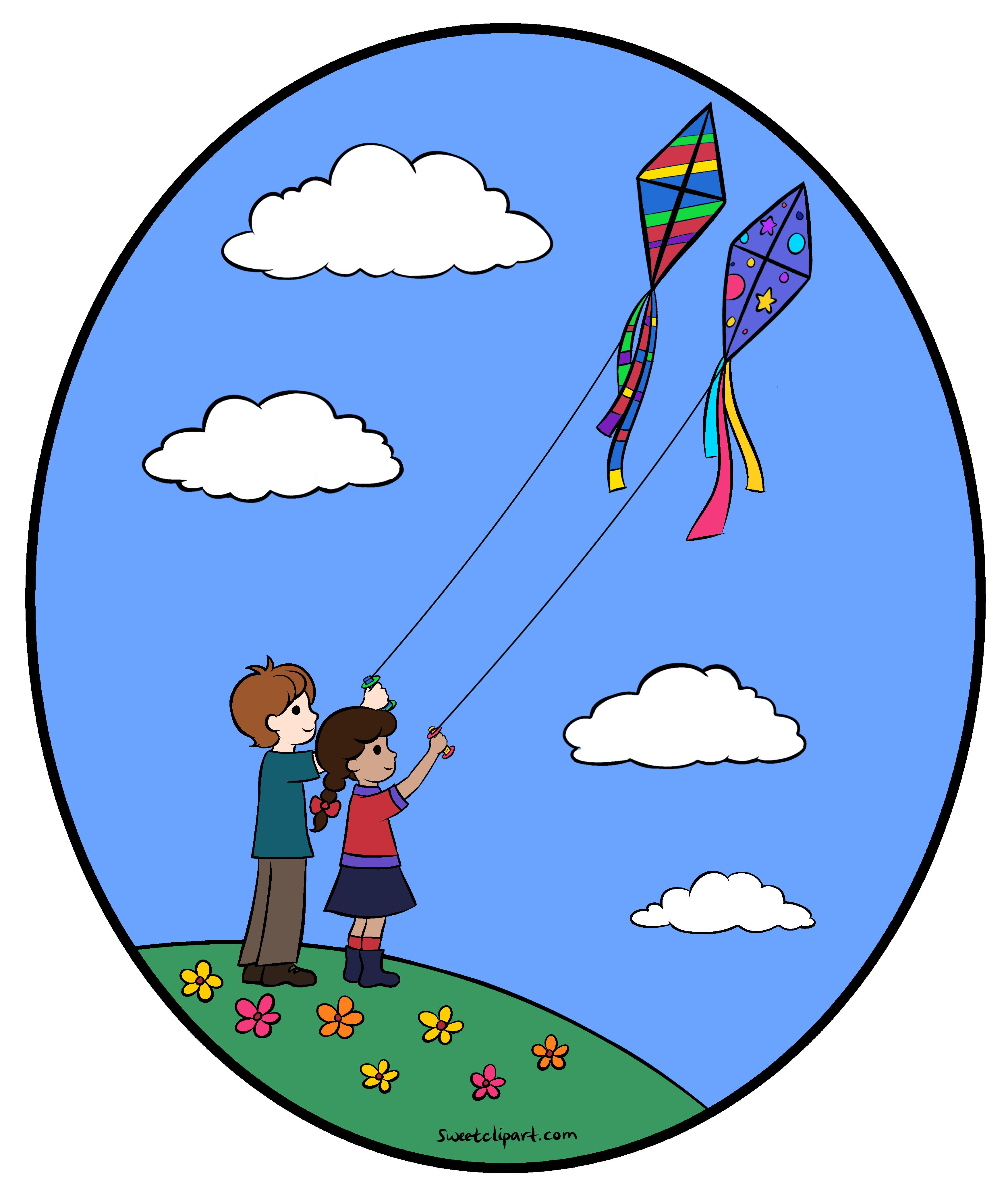 flying kite illustration - photo #25